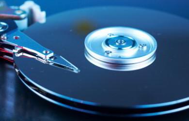 Cabeça de leitura de um disco duro