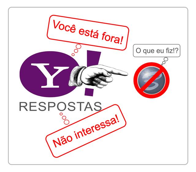 Yahoo! Respostas baniu Bruno Cunha