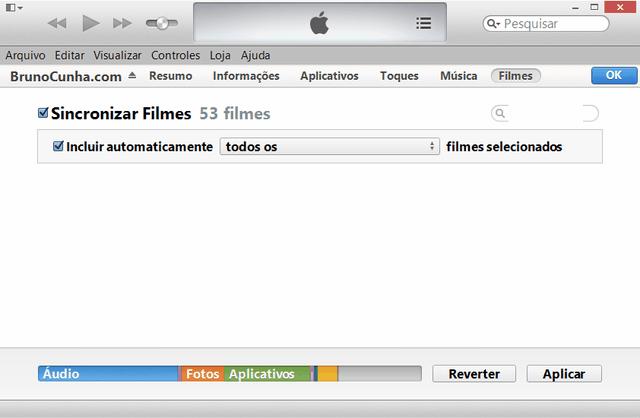 iTunes - Biblioteca de Filmes
