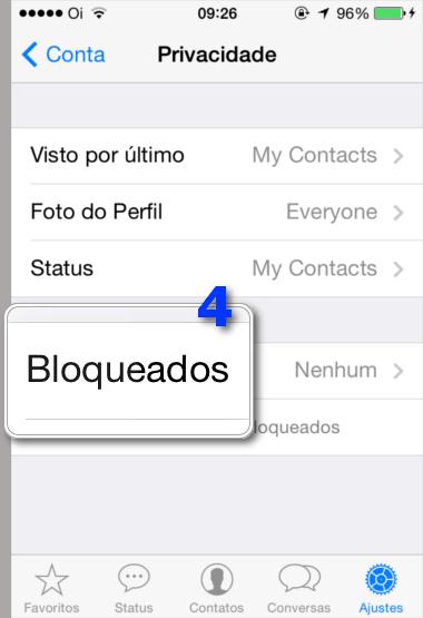 Bloquear Contatos WhatsApp - Bloqueados