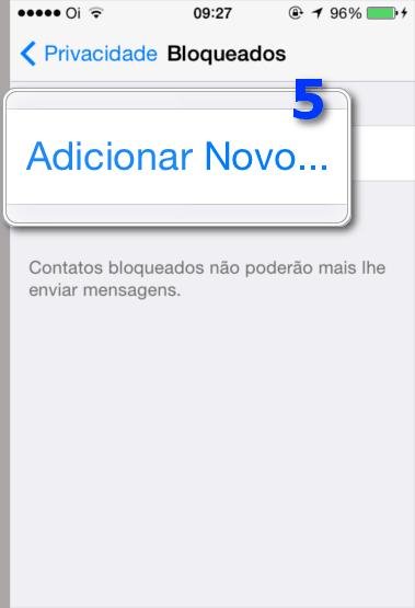 Bloquear Contatos WhatsApp - Adicionar Novo